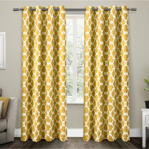 Exclusive Home Curtains 2 Pack Gates Sateen Blackout Thermal Grommet Top Curtain Panels