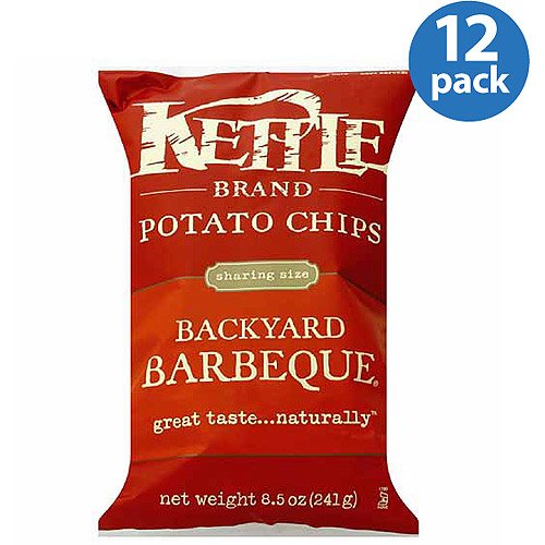 Kettle Brand Backyard Barbeque Potato Chips, 8.5 oz, (Pack of 12)