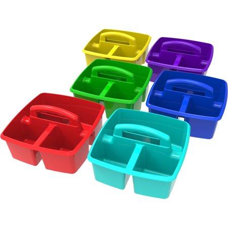 Storex Classroom Caddy, Assorted Colors,(6 units/pack)](Classroom Book Bins)