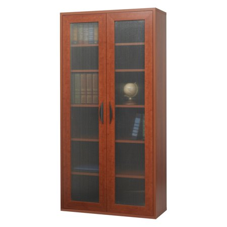 - Storage Bookcase with Doors - Cherry