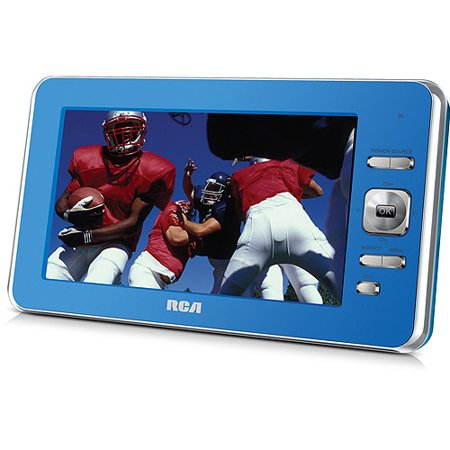 "RCA (DPDM70RRB) 7"" ATSC Portable Digital TV, DPTM70R, Blue (Refurbished)"