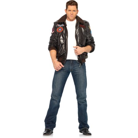 Leg Avenue Top Gun Adult's Bomber Jacket Adult Halloween - Top Gun Halloween Costume With Helmet