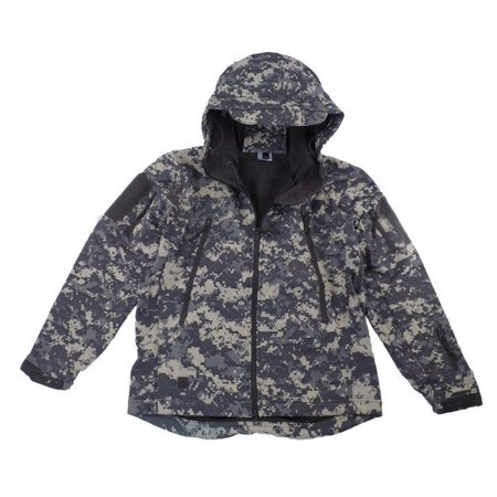 Tactical Scorpion Soft Shell Mens Military Waterproof Hooded ACU Digital (Acu Jacket)