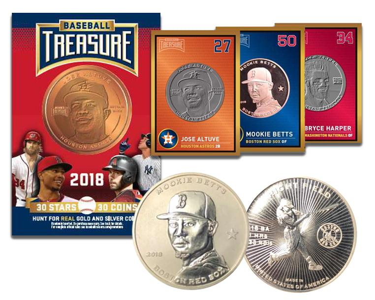 Baseball Treasure MLB Coins Case of 36 Blind Packs by