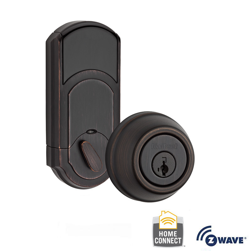 Kwikset 910-S-TRL-ZW Signature Series Traditional Electronic Deadbolt with Z-Wave Technology