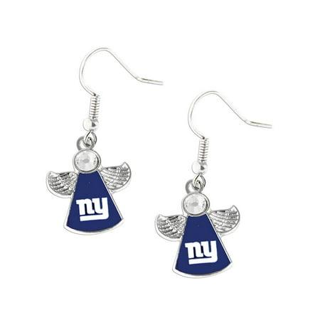 NFL New York Giants Crystal Angel Wings Dangle logo Earring Charm Gift Set - image 3 of 3