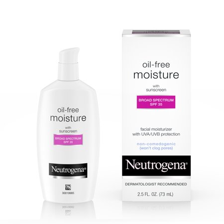 Neutrogena Oil Free Facial Moisturizer SPF 35 Sunscreen, 2.5 fl. (Best Selling Facial Moisturizer In The World)