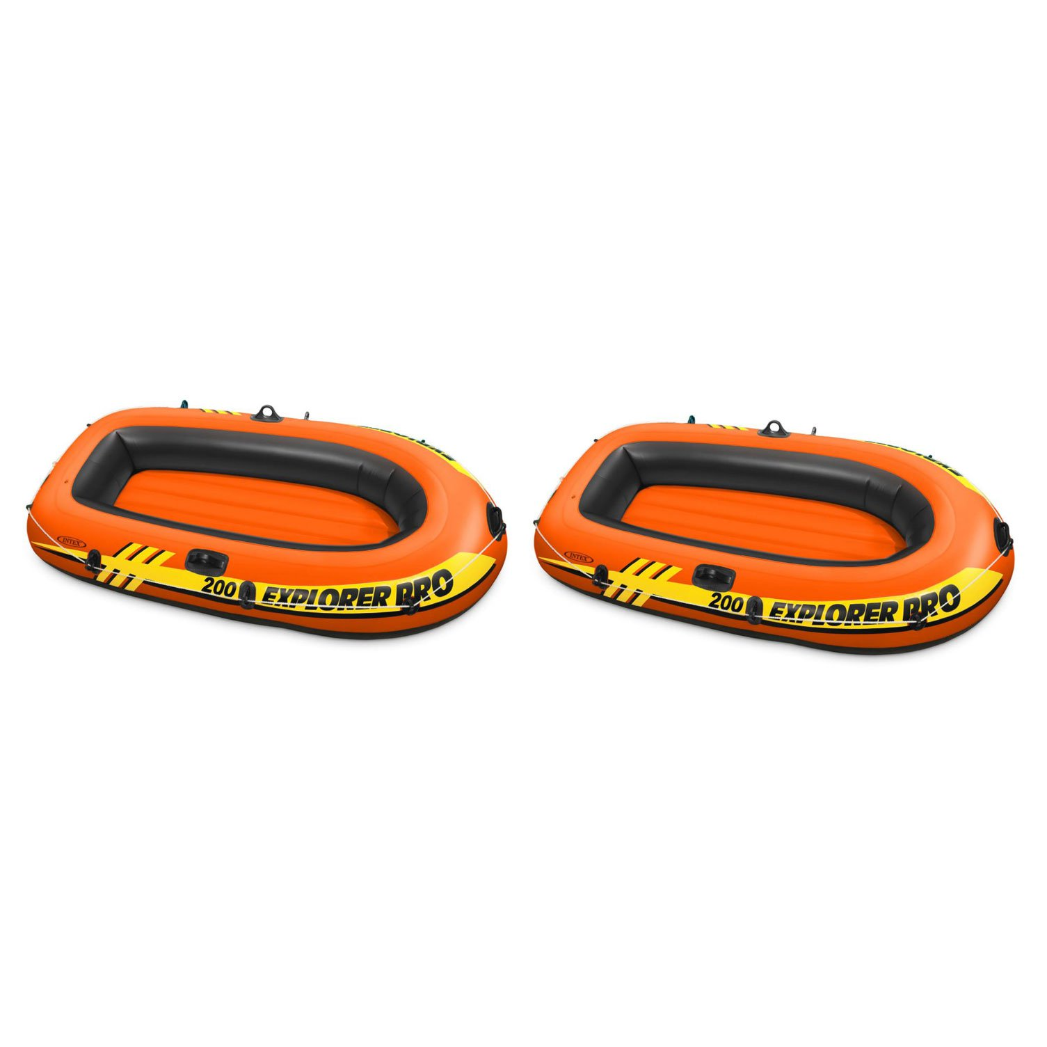 Intex Explorer Pro 2 Person Youth PVC Boat Raft for Fishing & Rafting (2 Pack)
