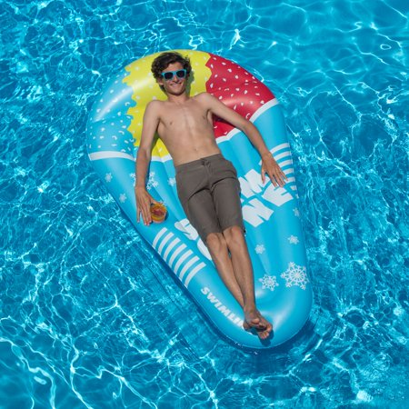 Swimline Snow Cone Mattress Inflatable Swimming Pool Raft Ride On 72 Inch  Float