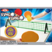 POOF-Slinky Ideal Pingo Pongo Portable Tabletop Ping Pong Set with Paddles and Foam Balls