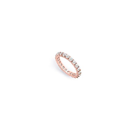 14K Rose Gold Best Diamond Eternity Ring For