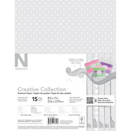 creative collection translucent vellum paper 8 5 x 11 assorted