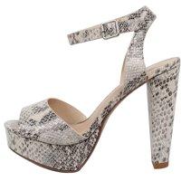 ae94489a63f Product Image Speed Limit 98 Women s Open Toe Halter Ankle Strap Block Heel  Dress Sandal (Beige Python