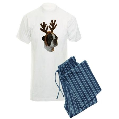 CafePress - Boston Terrier Reindeer - Men's Light Pajamas - Reindeer Pajamas For Adults