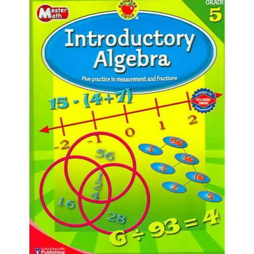 Brighter Child Master Math Introductory Algebra, Grade 5
