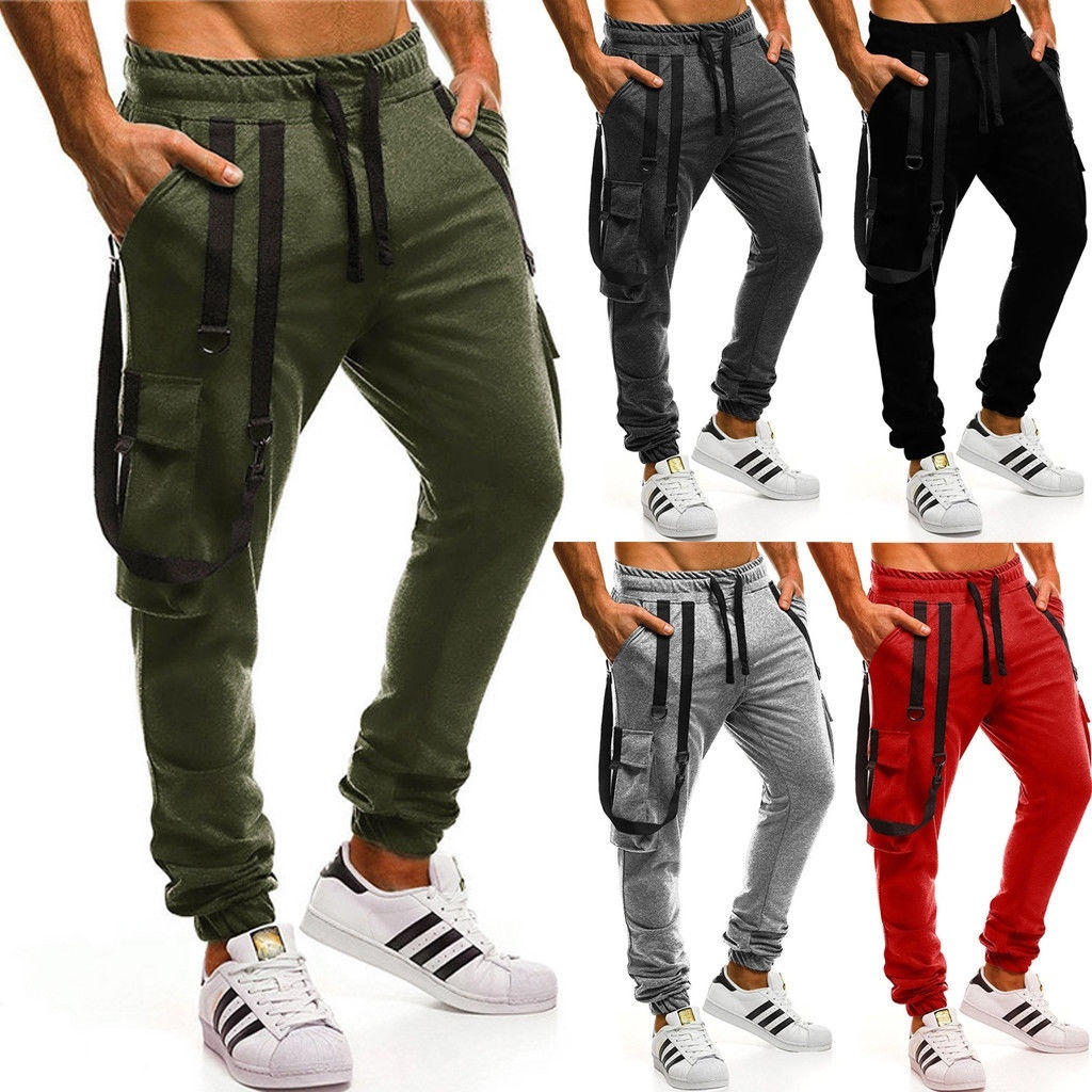 New Hot Mens Slim Fit Tracksuit Bottoms Skinny Joggers Sweat Pants Gym Trouse NT