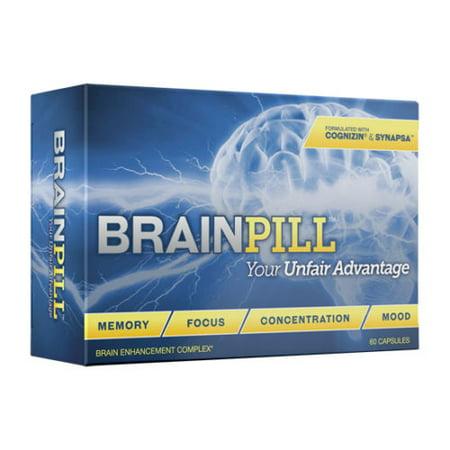 BRAIN PILL Focus Supplement BOOST Memory Cognizin Synapse factor