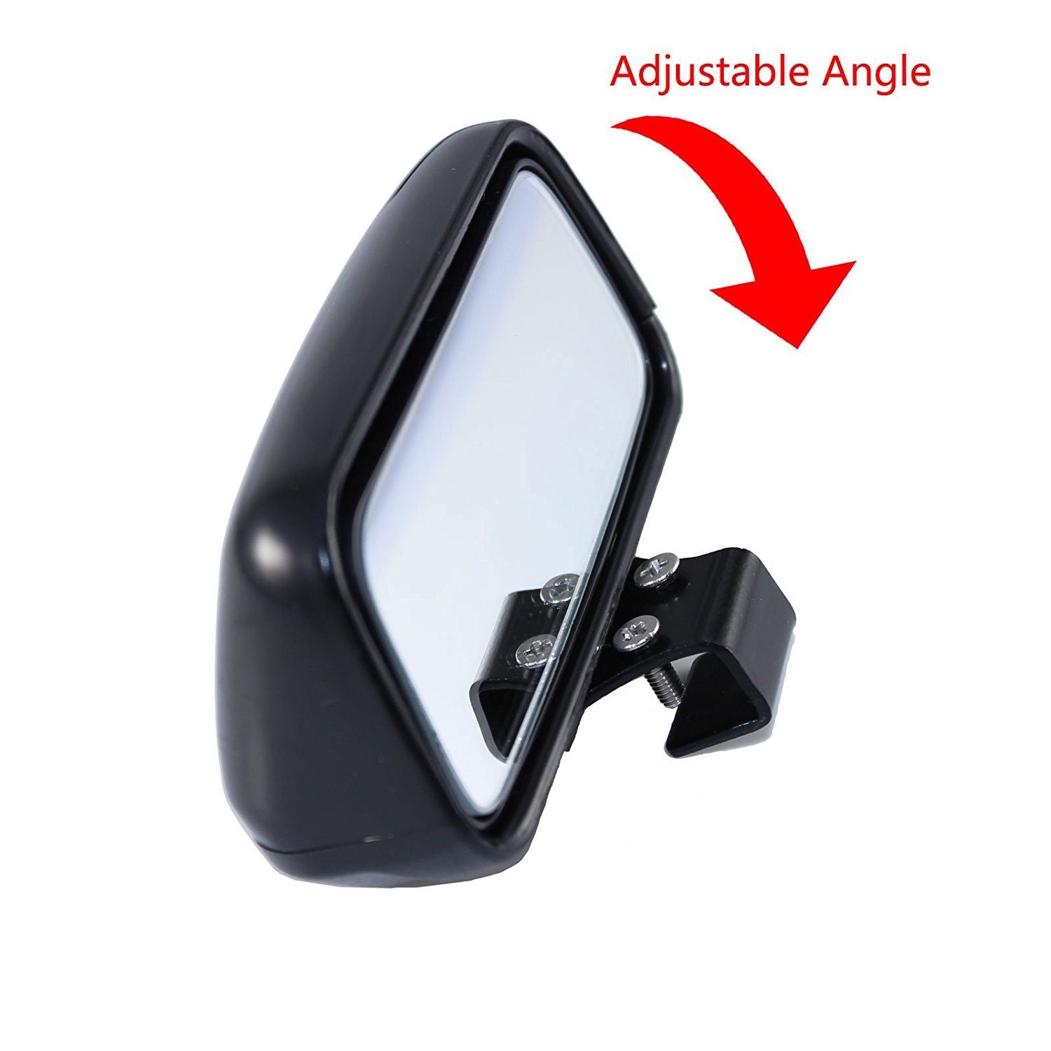 2 Pcs Convex Clip On Half Oval Rear View Conter Blind Spot Angle Auxiliary Mirrors For Car Truck SUVs Motorcycle Blind Spot Mirror