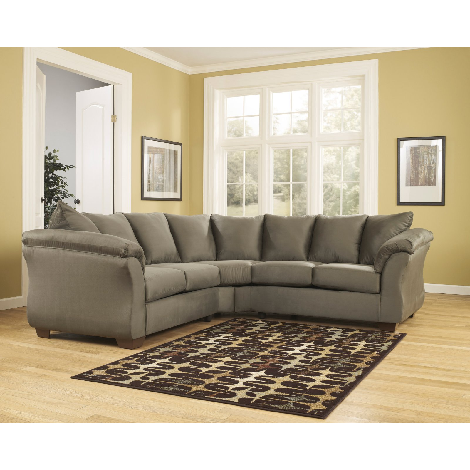 Signature Design by Ashley Darcy Fabric Sectional