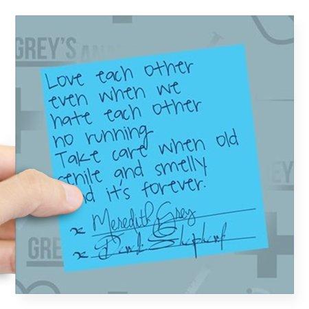 CafePress - Greys Anatomy Sticky Note Square Sticker 3