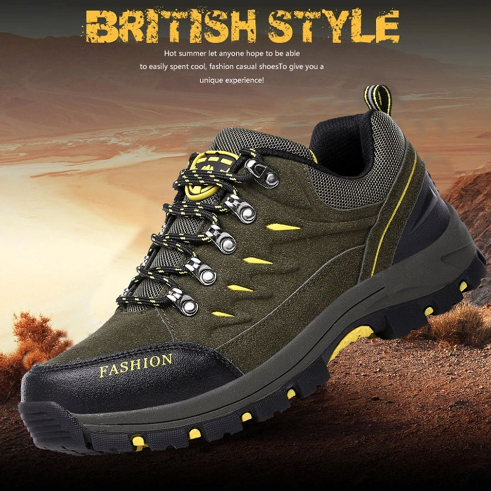 Outdoor Leather Scrub Waterproof Mountaineering Shoes Women Hiking Boots