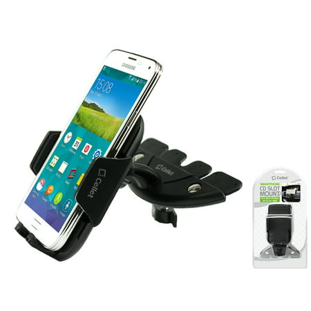 Cellet CD Slot Mount, Car Phone Holder, Cradle, Compatible for Alcatel Tetra/7/REVVL 2Plus/Verso/U5/REVVL/A30 Fierce/Cingular Flip 2/ QuickFlip/Go Flip/Streak/IDOL 5, Coolpad Defiant/Canvas