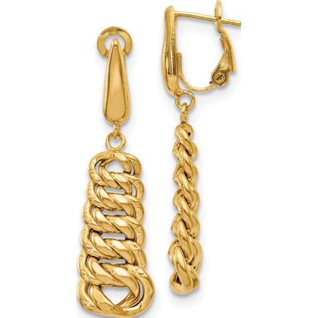 14K Polished Fancy Link Dangle Earrings (43x11.75)