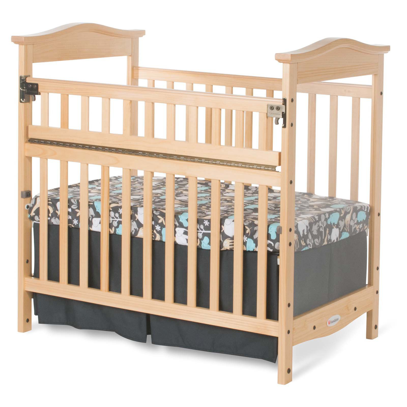 Foundations The Princeton Clear Choice SafeReach Side Mini Crib