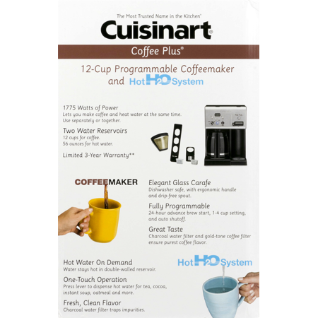 Cuisinart Coffee Maker Coffee Not Hot Enough : Cuisinart Coffee Plus 12-Cup Programmable Coffeemaker and Hot H2O System, 1.0 CT - Best Buy ...