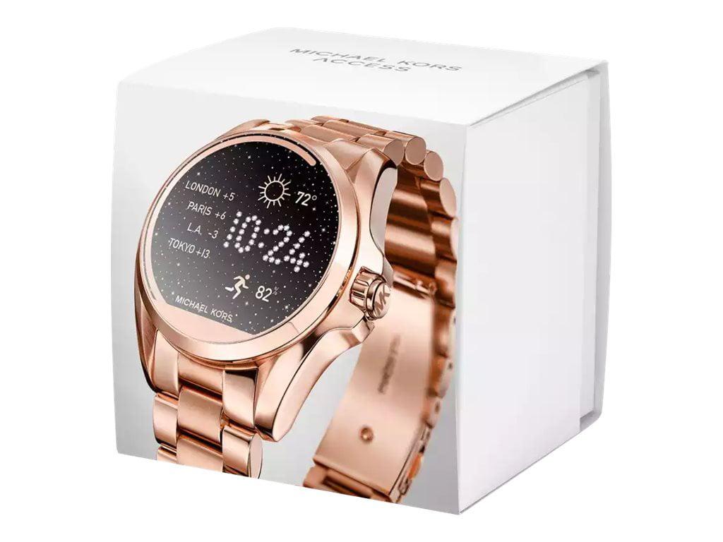 602986d167a Michael Kors - Women s Access Touch Screen Rose Gold Bradshaw Smartwatch  MKT5004 - Walmart.com