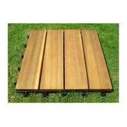4 Slat Style Interlocking Deck Tile - Pack of 10