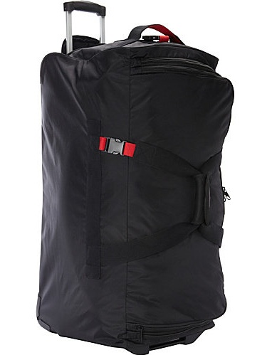 "Asaks A.Saks Black Ballistic Nylon 31-inch Expandable Rolling Duffel Bag - 31"" x 14"" x 14"""