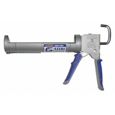 NEWBORN 930-GTD Caulk Gun, Drip-Free,Silver,10