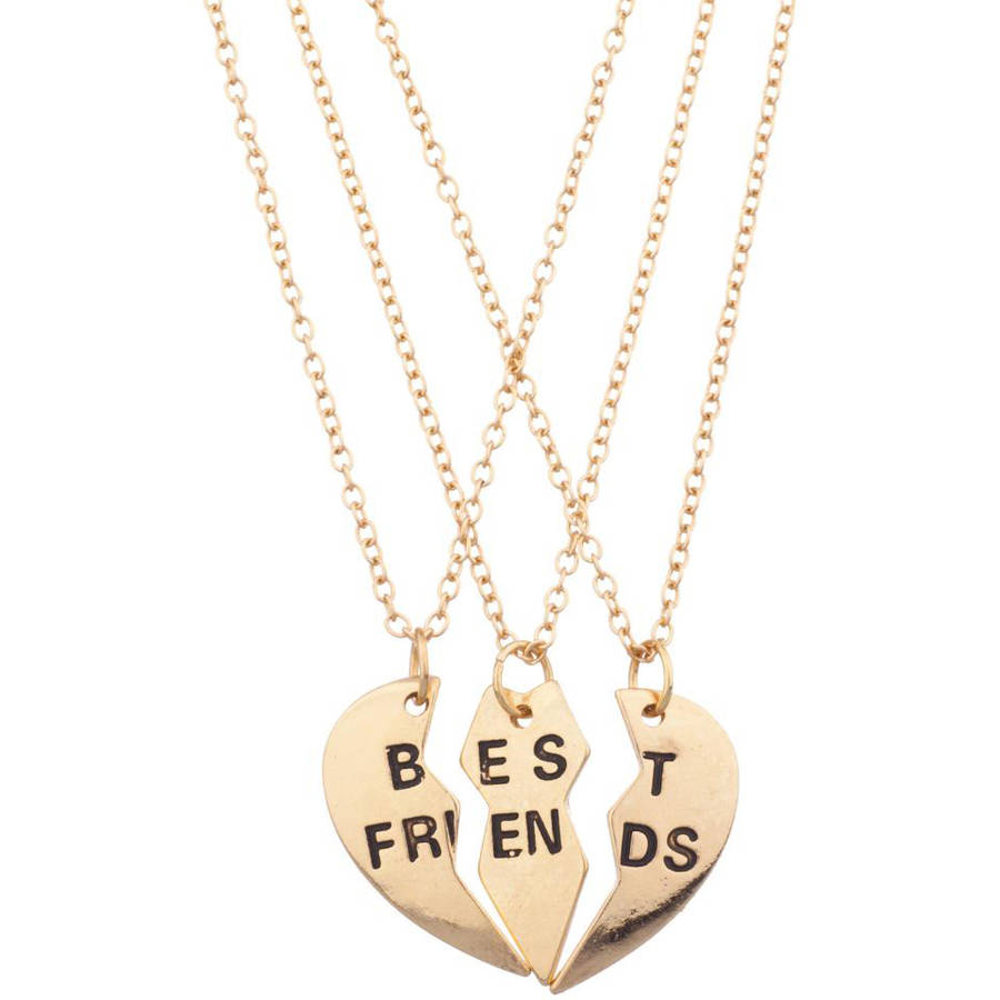 Best Friends Necklace Set, 3-Piece