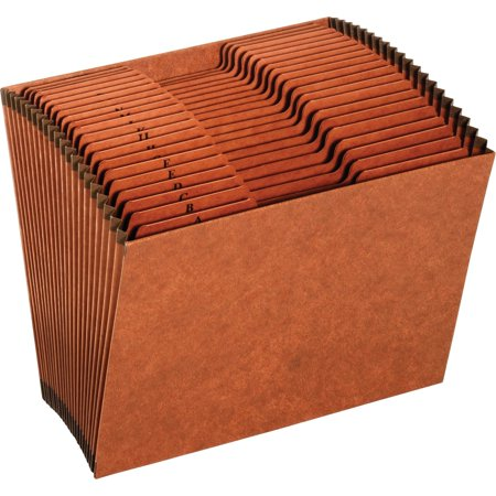 Pendaflex, PFXR217AHD, 21-Pocket A-Z Tab Letter Expanding File, 1 Each, Brown