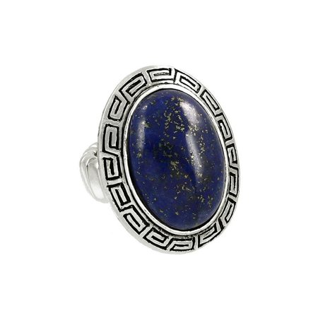 Adventurine Gemstone (Falari Natural Gemstone One Size Stretch Ring)