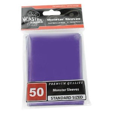 Sleeves - Monster Protector Sleeves - Standard Size Gloss - Purple (Fits MTG Magic the Gathering a Multi-Colored