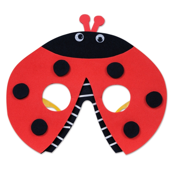 Ladybug Party Plastic and Foam Character Glasses (1 ct)