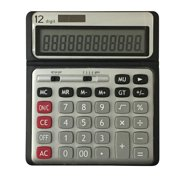 Pen + Gear 12 Digit Large Display Desktop Calculator, Gray, Office, SCENERY ELECTRONICS LIMITED