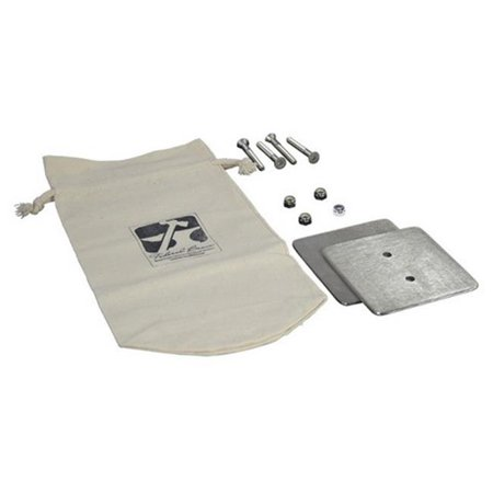 Stainless Steel 3 Hole Installation - Federal Brace 39978 2 Hole Counter Mount Bearing Plate Kit, Stainless Steel