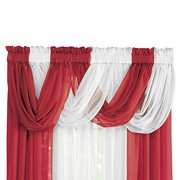 Collections Etc Sheer Scoop Valance Curtains