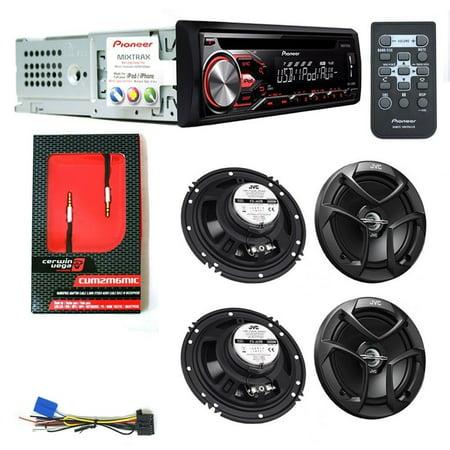 PIONEER DEH - X2800UI CAR DIGITAL STEREO CD PLAYER 2 JVC CS-J620 6.5