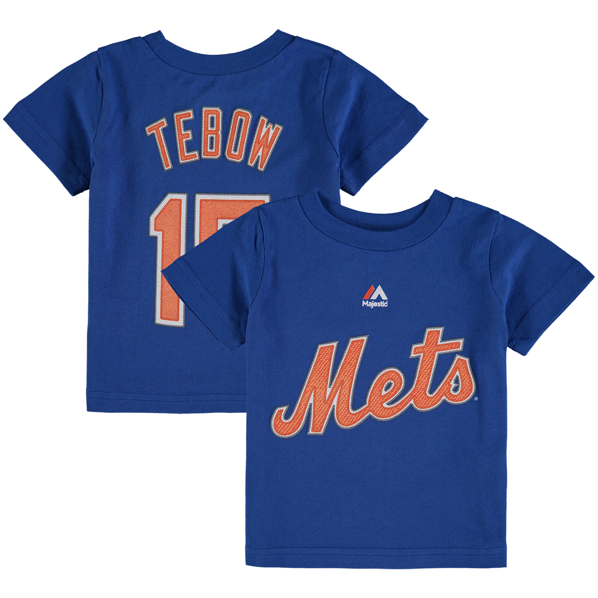 tim tebow new york mets majestic infant player name & number t-shirt - royal