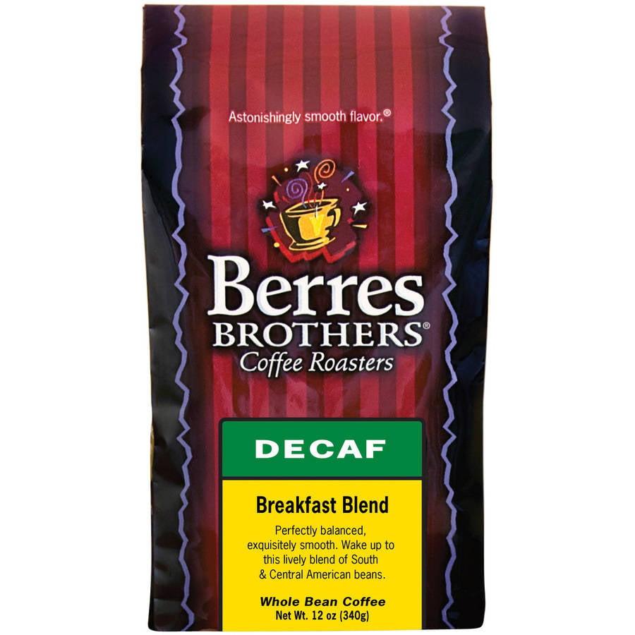 Berres Brothers Coffee Roasters Breakfast Blend Decaf Whole Bean Coffee, 12 oz