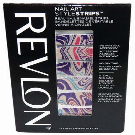 revlon nail art style strips marble arts 16 strips - Nail Art Halloween Water Marble