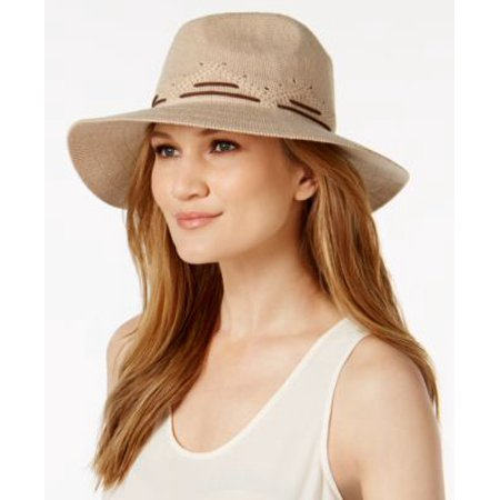 INC International Concepts Faux-Suede Stitch Fedora Camel ONE SIZE](Suede Fedora)