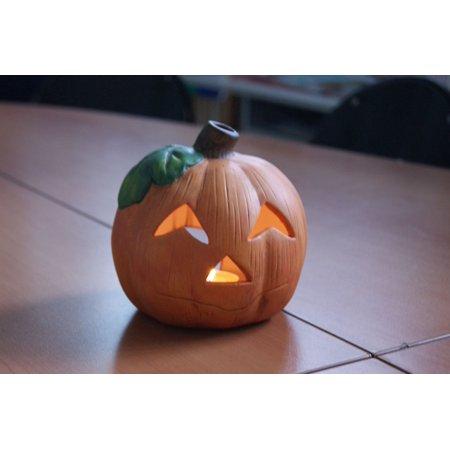 Halloween Pumpkin Art And Craft (Framed Art For Your Wall Halloween Pumpkin Decoration Jack-o-lantern 10x13)