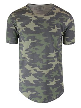 2f8213340 Product Image Camouflage Mens Hipster Hip Hop Long Drop Tail T Shirts