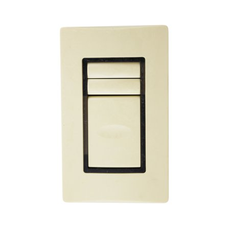 Ivory Dual Wall Plate (Watt Stopper HDLS2SS-2 2-Button Dual Dataline Switch SWS 1-Master 1-Gang,)