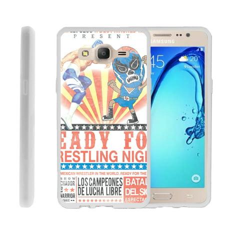 - Samsung Galaxy On5 G550, Flexible Case [FLEX FORCE] Slim Durable  Sleek Bumper with Unique Designs - Lucha Libre Wrestling